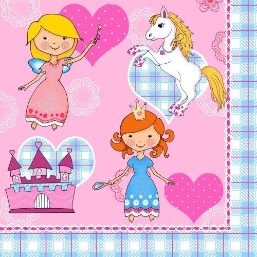 20 Serviettes Princesse Dream