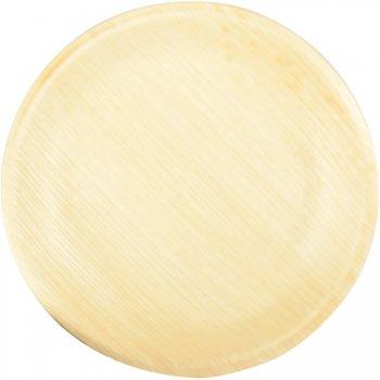 25 Petites Assiettes Rondes (18 cm) -  Feuille de Palmier