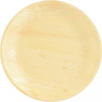 25 Assiettes Rondes ( 23 cm) - Feuille de Palmier