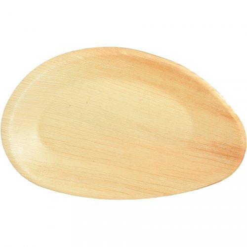 25 Assiettes Ovales (26 cm) - Feuille de Palmier