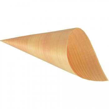 50 Cornets (12 cm) - Feuille de bois