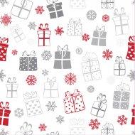 20 Serviettes Flocons et Cadeaux