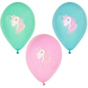6 Ballons Tendre Licorne