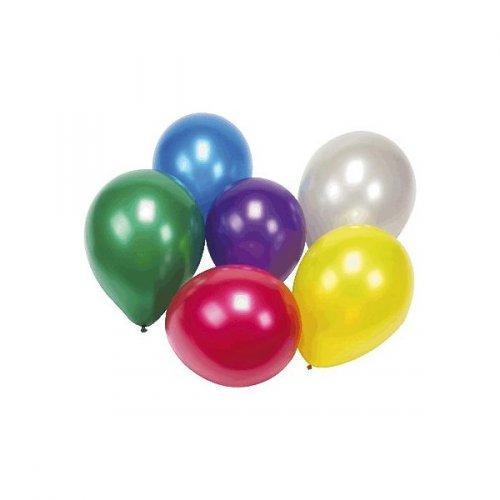 25 Ballons Couleurs Métal