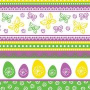 20 Serviettes Papillons et Oeufs de Pâques
