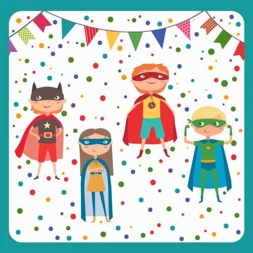 20 Serviettes - Super Héros