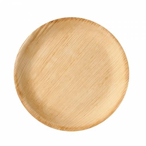 6 Assiettes Rondes - Feuille de Palmier