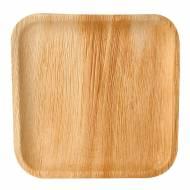 6 Assiettes Carrées - Feuille de Palmier