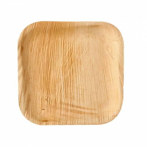 6 Petites Assiettes Carrées - Feuille de Palmier