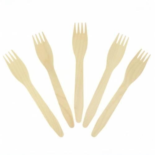 10 Fourchettes en Bois - Biodégradable