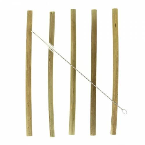 12 Pailles réutilisables - Bambou