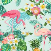 20 Serviettes - Flamant Rose Exotic