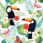 20 Serviettes - Toucan Tropical