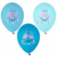 6 Ballons Flamant Rose