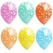 6 Ballons Fleurs