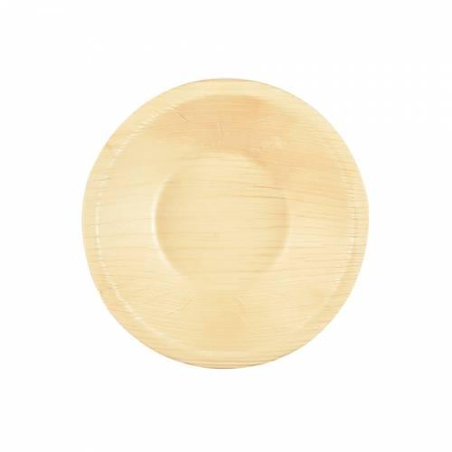 6 Mini Coupelles Rondes - Feuille de Palmier