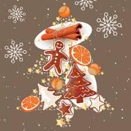 20 Serviettes Pain d'Épice et Orange