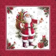 20 Grandes Serviettes - Père Noël Vintage