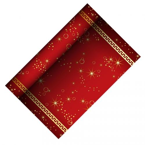 Chemin de Table Noël Etincelant - Rouge