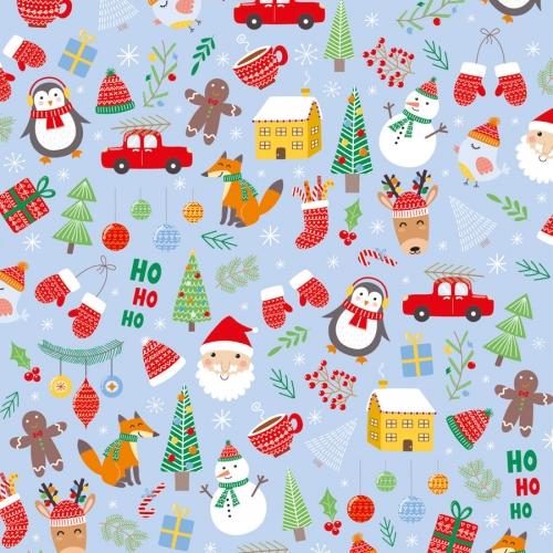20 Serviettes - Père Noël et ses Amis