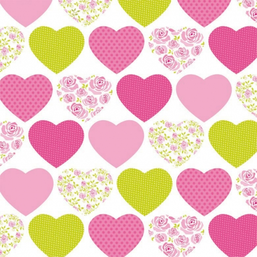 "20 Serviettes ""Sweetheart"""