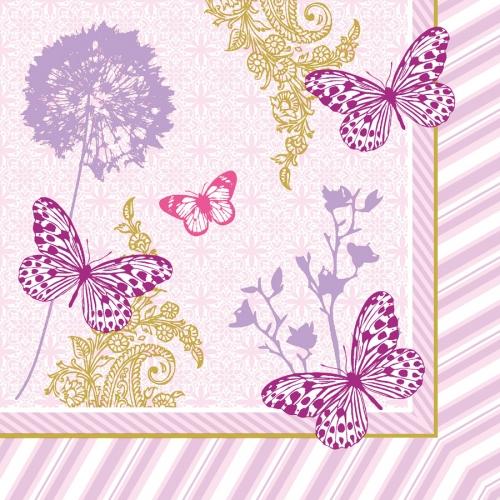 20 Serviettes Papillons