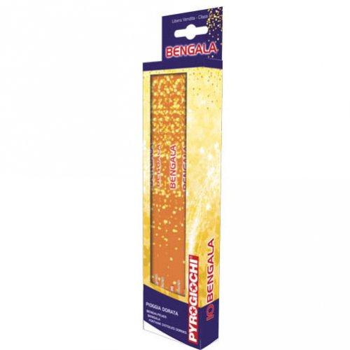 10 Feux de Bengale Étoiles dorées