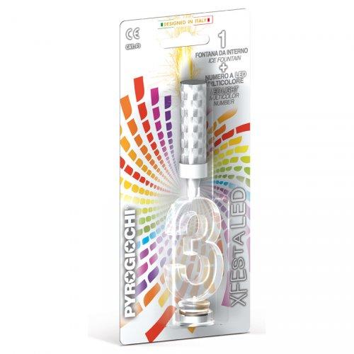 Fontaine Lumineuse - Chiffre LED 3