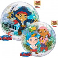 Bubble ballon à plat Captain Jake le Pirate