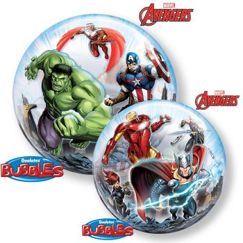Bubble ballon à plat Avengers