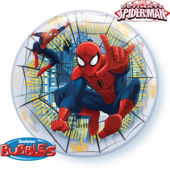 Bubble ballon à plat Spiderman