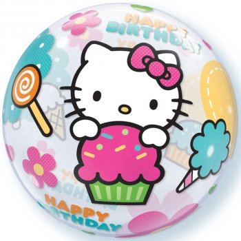 Bubble ballon à plat Hello Kitty