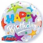 Bubble ballon Happy Birthday Etoiles