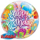 Bubble ballon � Plat Happy Birthday Ballon