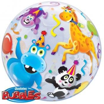 Bubble ballon à plat Animaux en folie