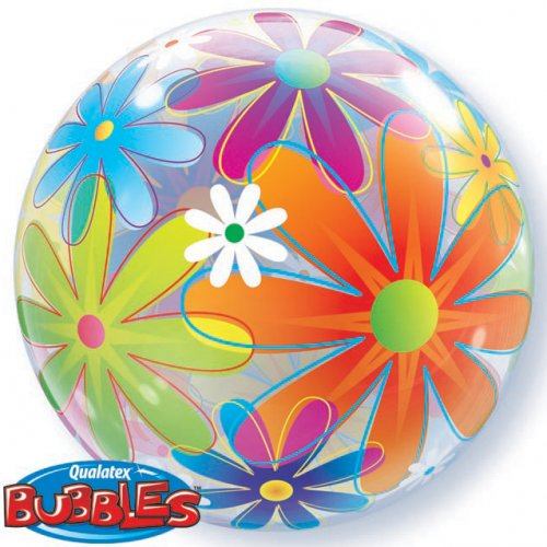 Bubble ballon à plat Flowers