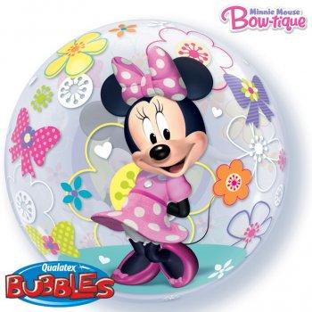 Bubble ballon Hélium Minnie Flowers