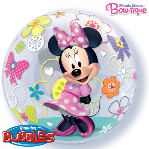 Bubble ballon Hélium Minnie Flowers