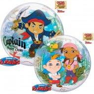 Bubble ballon Hélium Captain Jake le Pirate