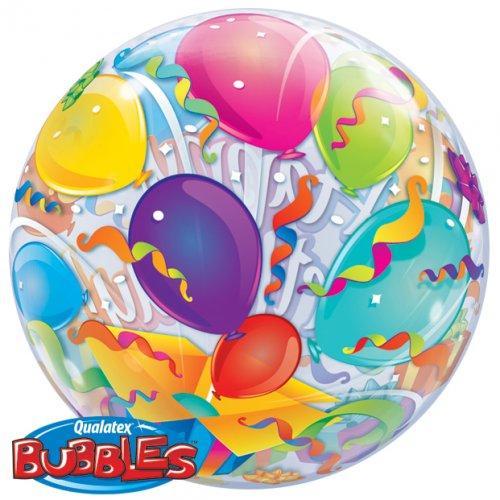Bubble ballon Hélium Happy Birthday Ballons