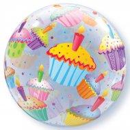 Bubble ballon Hélium Cupcake