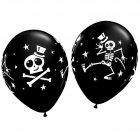 Lot de 25 ballons noirs halloween squelette dansant
