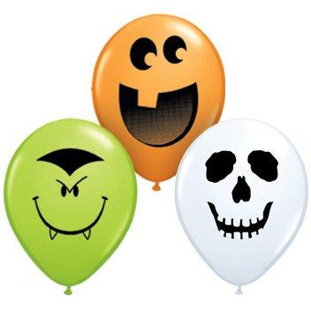 100 petits ballons Halloween (12 cm)