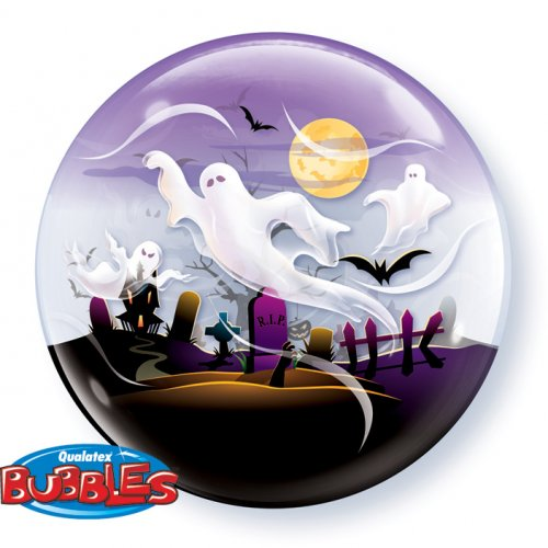 Bubble Ballon à plat Halloween Fantôme