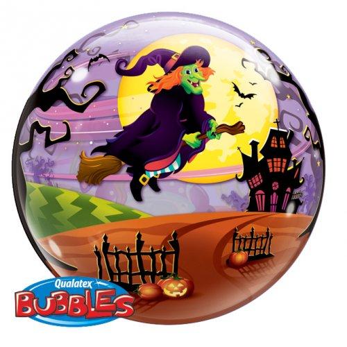 Bubble Ballon à plat Halloween Sorcière