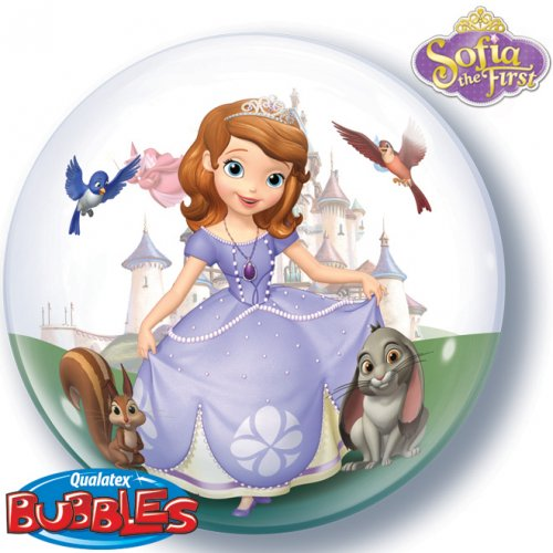 Bubble ballon Gonflé à l Hélium Princesse Sofia