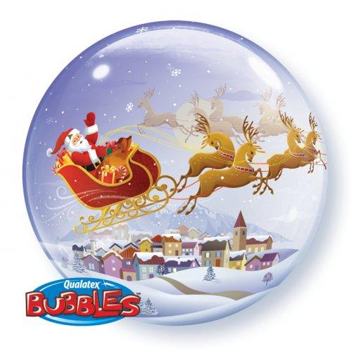 Bubble Ballon à Plat Père Noel