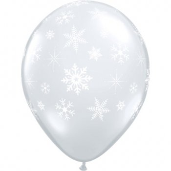 Lot de 50 Ballons Blancs Flocons de Neige