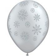 Lot de 25 Ballons Argent�s Flocons de Neige