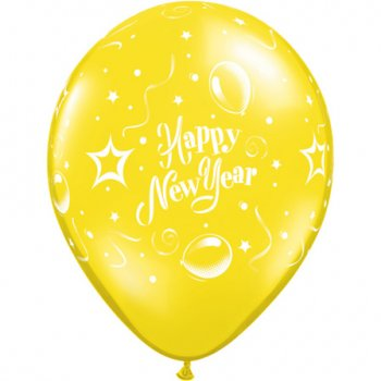 Lot de 25 Ballons Happy New Year